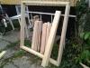 Byg et mobilt arbejdsbord til skuret - stumperne er skåret og klar til samling