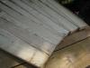 hvert andet bræt er skåret til i enderne så alle brædder kan ligge tæt