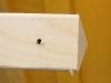 Bor et hul på 5 mm., 3 cm. inde fre enden af træet