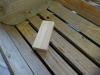 DIY - Vi bygger en skal i træ, træ før og efter patinering, det er utroligt hvad en gang the mm. kan gøre :-)