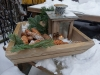 Så er skålen færdig og sat ud til at pynte i det fine snevejr vi har pt. på Bornholm