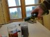 Patinering af det nye træ - Vineddike og the