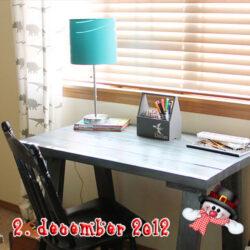 Byg et rustikt skrivebord i reglar - DIY