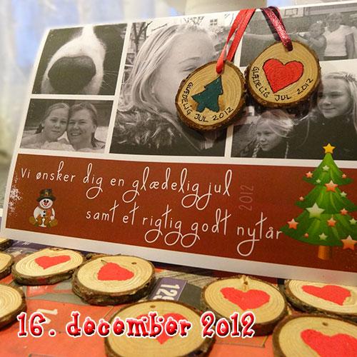 Hjemmelavet Julekort – med en lille gave