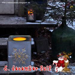 Lav selv en flot julelanterne af en gammel metalbeholder