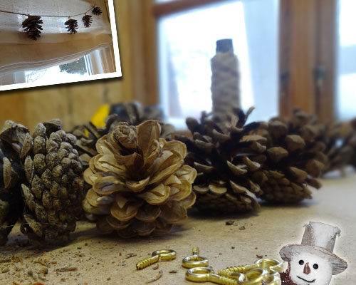 DIY Gran guirlande - Smuk julepynt
