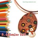 Byg et smukt halssmykke ud af et stykke træ og en stak farveblyanter