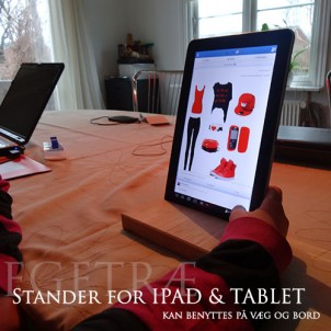 Ophæng til Ipad & Tablet i egetræ