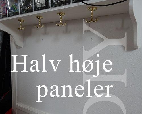 Byg et par høje paneler til huset