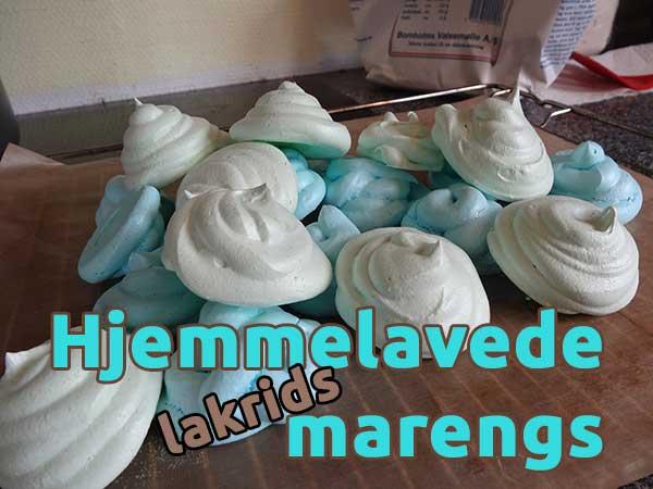 Hjemmelavede marengs – lakrids