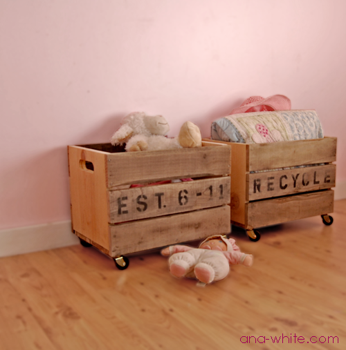 Byg nogle rustikke kasser tilaviserne i udestuen