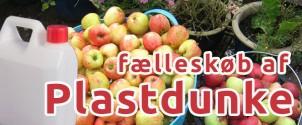Plastdunke til æblesaften