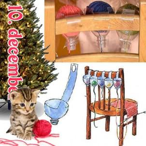 DIY julegave 10 – Kattesikker strikkeanordning