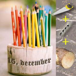 Gør det selv julegaver - lav en blok til farveblyanterne
