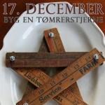 Byg en fin julestjerne af de gamle ødelagte tommestokke