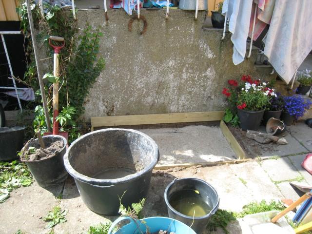 Vi støber en vandkumme, bunden skal laves først