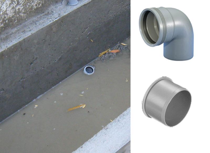 Vi støber en vandkumme, afløbsrør til at tømme vandkummen med