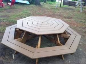 Byg en havebænk – med otte kanter