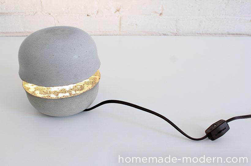 Byg en flot hjemmelavet lampe i beton