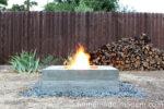 Hjemmelavet ildsted til haven