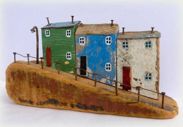 Nisselandskab - byg din egen julelandsby af gammel tømmer, eller bræddestumper