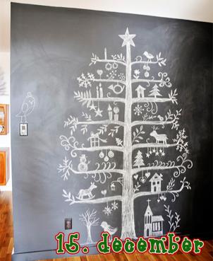 Juletræ i 2D – sort/hvidt – 15 december