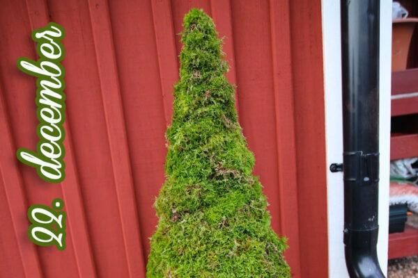 Lav en fin nisse i mos, gran og julekugle...