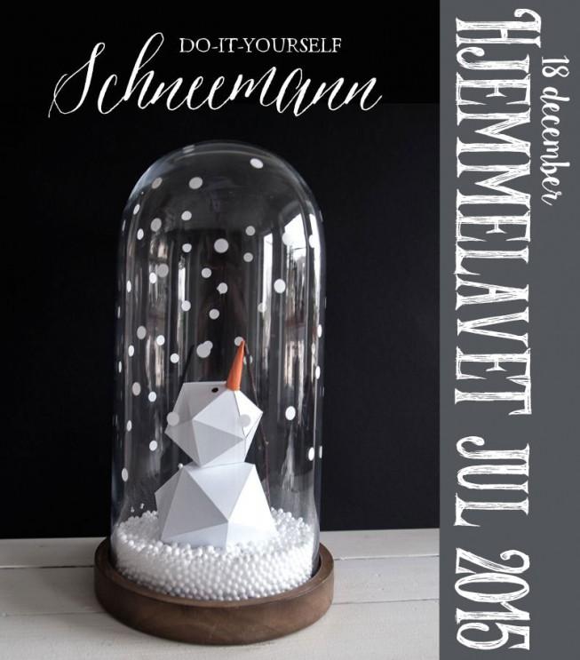 Hjemmelavet Julehygge – En snemand under låg