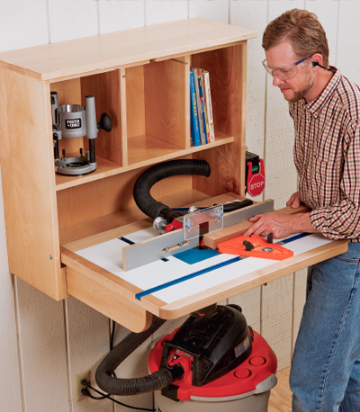 Byg et overfræserbord til det lille værksted
