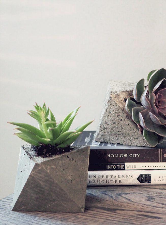 Støb i beton – urtepotteskjulere